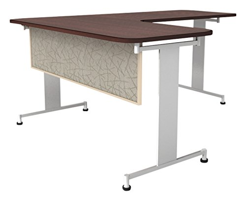 Obex 24X48A-L-SA-MP 24'' Acoustical Desk and Table Mounted Modesty Panel, Sage, 24'' x 48''