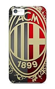 For Iphone 5c Premium Tpu Case Cover Ac Milan Artisctic Logo Protective Case