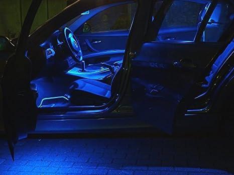 Set de Iluminación Interna Led 8X Lámparas Azul Coche Iluminación Bombilla: Amazon.es: Coche y moto