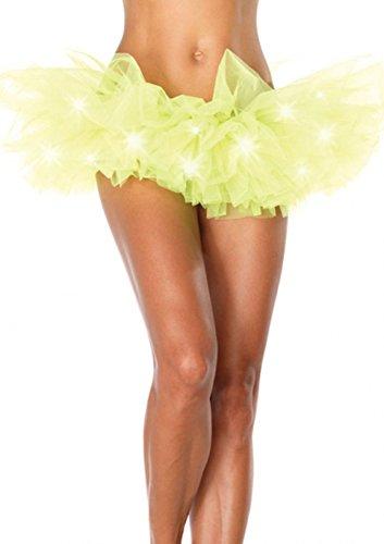 MAX MALL Femme Lumire LED Ballet Tutu Mini-jupe Tulle Parti Danse Jupe Jaune