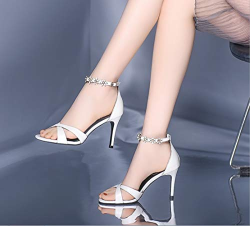 Mouth Heeled fine Fashion Ultimate High Handmade Sandals Women's with High Sandals eshoes White siz Heels Shoes Fashion Shoes Lady Leather Sandals high Women's Peeps Fish Small TAqPxw