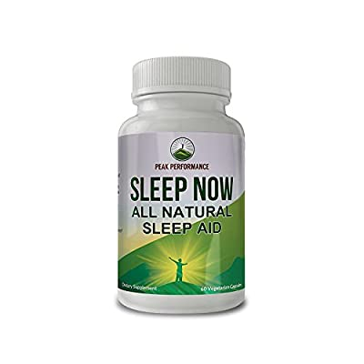 Sleep Now - All Natural Non Habit Forming SLEEP AID Supplement By Peak Performance For Calm Sleep, Wake Up Refreshed. With Chamomile, GABA, Melatonin, Valerian Root,