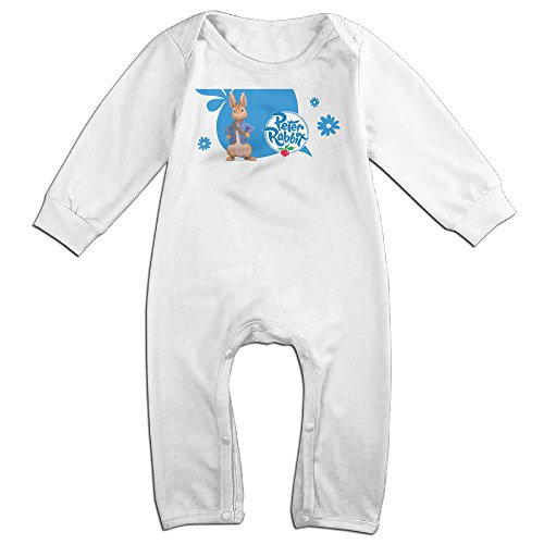 KIDDOS Baby Infant Romper Fictional Animal Character Long Sleeve Jumpsuit Costume,White 18 Months (Baby Godzilla Costume)