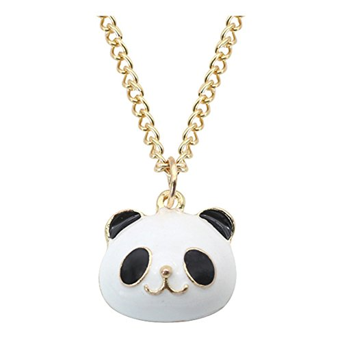 White Gold Panda - yihan jewelry 18K Gold Plated Lovely Animal Black White Panda Charm Pendant Necklace,20''