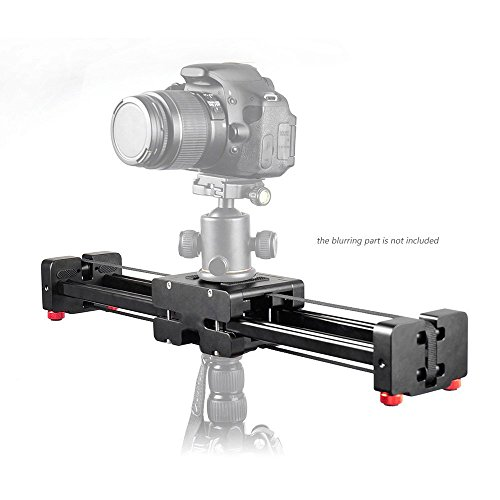 Andoer 16''/ 40cm Extendable to 32''/ 80cm Retractable Camera Video Slider Dolly Track Rail Stabilizer Load Up to 8kg for Canon Nikon Sony DSLRs Camcorders by Andoer