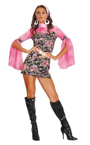 70er 80er Jahre Partykostum Hippie Kostum Party Kleid Amazon De