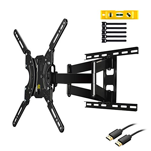 FORGING MOUNT FM9381-B TV Wall Mount Bracket Full Motion Dual Articulating Arms for Most 17-60 inch LED,LCD,OLED,Plasma Screen TVs up to 132LBS and VESA 400X400mm-16.5