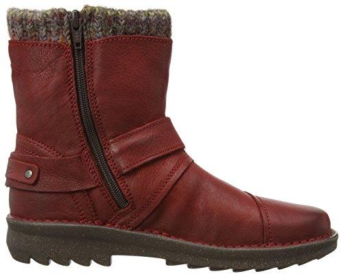 Rot rojo Ontario cuero caño 28 red dk active camel bajo botas de de mujer 6qWPyg