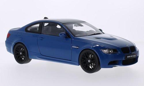 BMW M3 (E92M), blau/carbon, Modellauto, Fertigmodell, Kyosho 1:18
