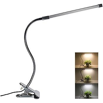 Flexible Led Gooseneck Desk Lamp Dimmable Clip Light 8w