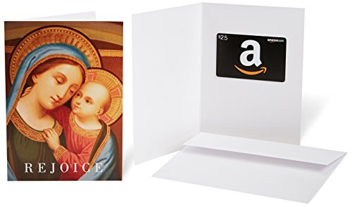 Amazon.com $25 Gift Card in a Greeting Card (Madonna with Child Design)