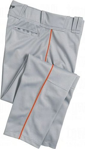 Rawlings Youth Premium Baseball/Softball Semi-Relaxed Fit Piped Pants