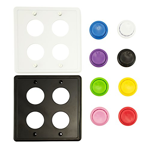 Arcade Light Switch Plate Cover, Double Switch, CUSTOM COLORS 2-Gang Standard Size Rocker Wall Plate, Game Room Decorator, Kid Bedroom Wallplate, Faceplate Replacement (CUSTOM)