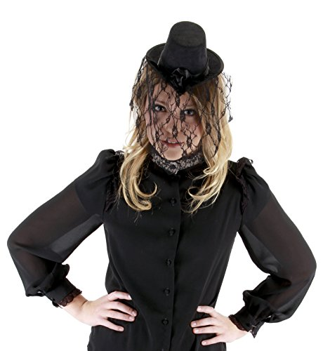E250310 (Black) Ladies Mini Victorian Top Hat