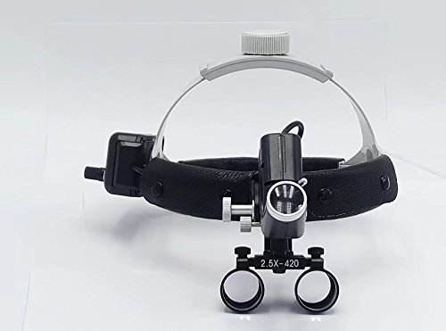 Ocean Aquarius 2.5X(400-540mm) Working Distance Headband Loupe With light Special Use For E.N.T Department DY-105(black)