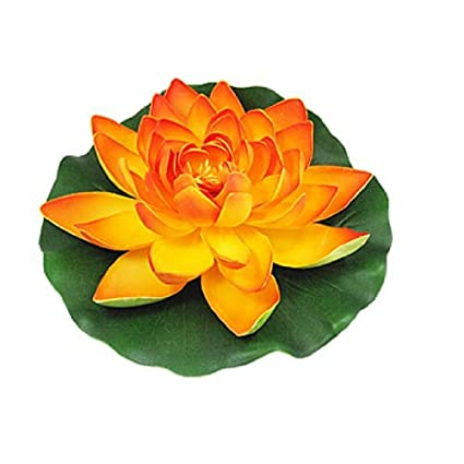 Amazon.com : eDealMax acuario espuma Flor de Loto decoración, Naranja/Verde : Pet Supplies