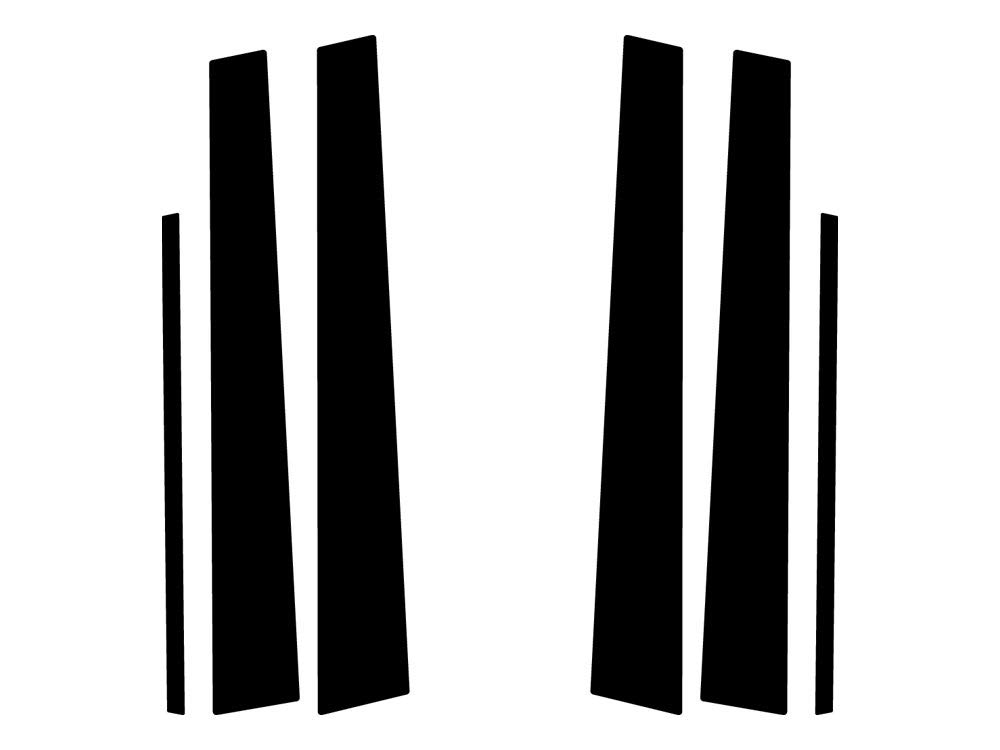 Rvinyl Rtrim Pillar Post Decal Trim for Lexus GS 1998-2005 Brushed Black Aluminum