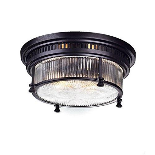 Ecopower Vintage Oil Rubbed Bronze Metal Glass Ceiling Light Fixture