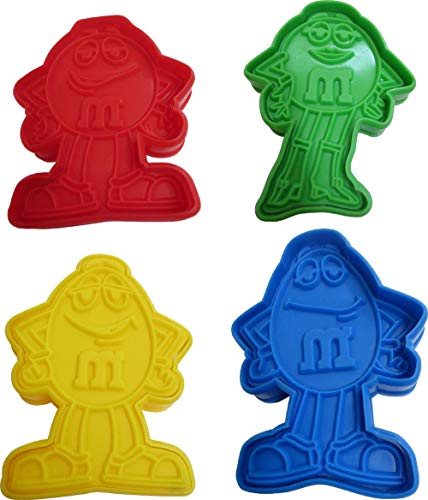 M&M's Set of 4 Char Cookie Cutters. 4 Characters, Miss Green, Yellow, Blue and Red.