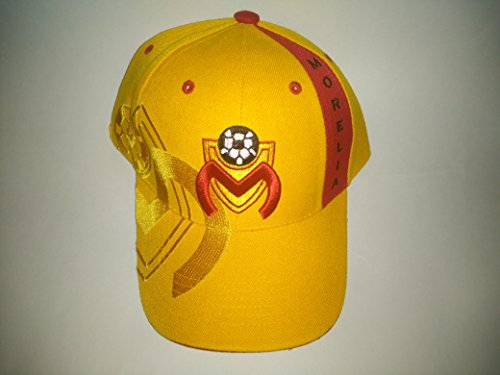 fan products of Yellow Morelia Monarcas Futbol Club 3D Embroidered Adjustable Velcro Back Cap Soccer Hat