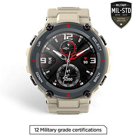 "Amazfit T-Rex Smartwatch, Military Standard Certified, Tough Body, GPS, 20-Day Battery Life, 1.3"" AMOLED Display, Water Resistant, 14-Sports Modes, Khaki (W1919US2N) 41zylK8HZmL"