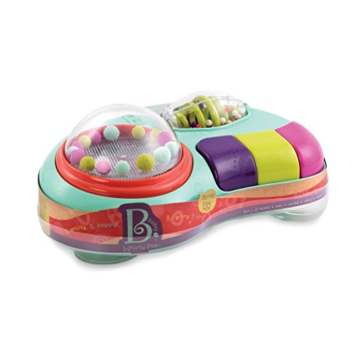 B. Toys – Whirly Pop – Lights & Music Station Baby Toy with Suction Cups – 100% Non-Toxic and BPA-Free