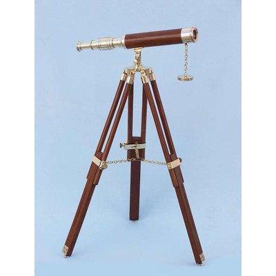 Floor Standing Harbor Master Decorative Telescope by Handcrafted Nautical Decor