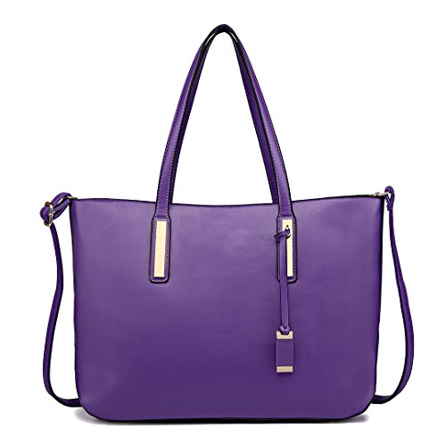 Miss Lulu Fashion Lady Shoulder Bag Leather Handbag for A4 Women Tote Shopping Bags