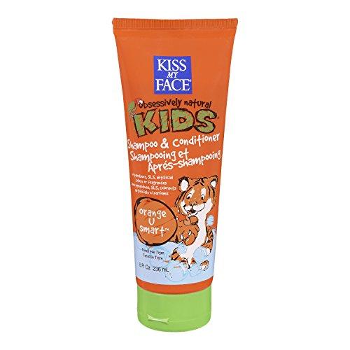 Kiss My Face Enfants 2 en 1 Shampoo & Conditioner, Orange U intelligente, 8 -Ounce Tubes (pack de 3)