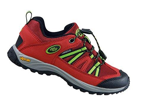 Brütting Ohio Low �?rot Mädchen/Damen Trekking Outdoorschuh Wasserdicht Schnellschnürsystem Rot (Rot/Schwarz/Lemon)