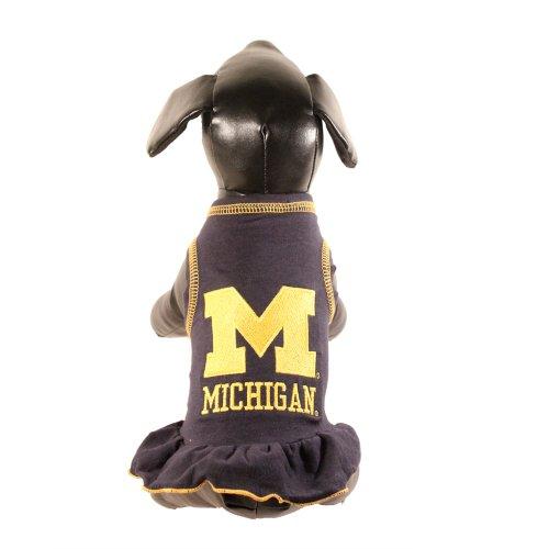 NCAA Michigan Wolverines Collegiate Cheerleader Dog Dress...