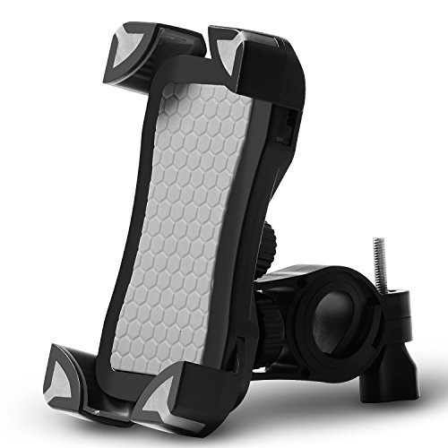 Mountain Bicycle&Motorcycle Handlebar Phone Mount, Universal Bike Cell Phone Holder for Android Smartphone, iphone 6 6S 6P 7 7P, Samsung S5 S6 S7 S8, HTC,LG,BlackBerry (Grey)..