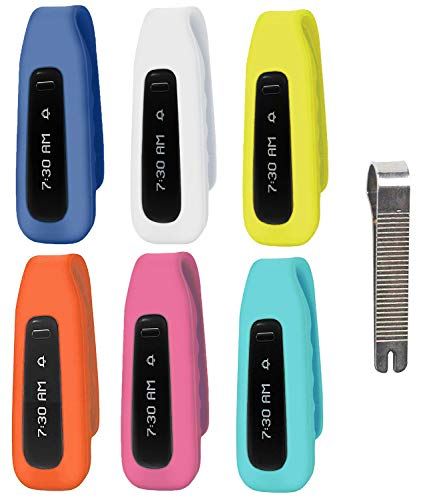 MDW 6pcs New Version Replacement Clip Accessory Pack for Fitbit ONE Anti Slip Off and Improved Cap Design