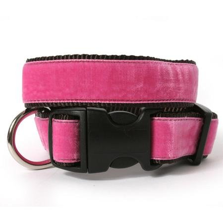 Velvet Dog Collar-S(5/8)-HUNTER-S(5/8)-HUNTER