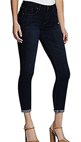 Jessica Simpson Rolled Crop Skinny Jean (4/27, Deep Indigo) from Jessica Simpson