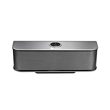 TaoTronics Boom X Stereo 20W Bluetooth Speaker (Dual 10W Drivers, Dual Passive Subwoofers, Strong Bass, Aluminum-Alloy, Bluetooth 4.0, Built-in Microphone) Wireless Portable Speaker