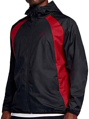 0d30d1def572fc Jordan Men s Air Nike Wings Windbreaker Jacket Black Red (XX-Large)