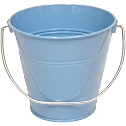"6 pack , Light Blue Metal Bucket 5.5"" H x 6"" click and pick color and size."