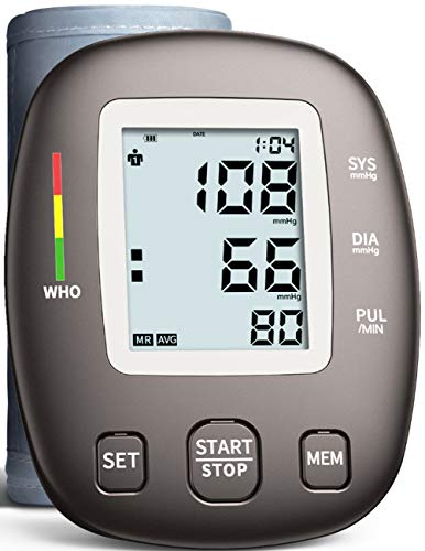 Blood Pressure Monitor, Approved by FDA with 2 Users 198 Memory,Automatic Heart Rate Pulse Monitor with Large Screen Display Home Use Care Device