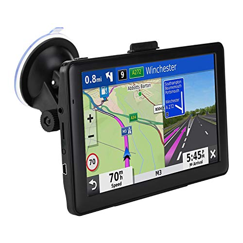 Car GPS Navigation, 7-inch Display 256MB-8GB Real Voice Broadcast Route Top US Map (Lifetime Map Free Update)