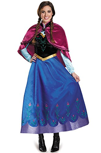 Disney Anna Costumes For Adults (Disguise Women's Anna Traveling Prestige Adult Costume, Multi, Large)