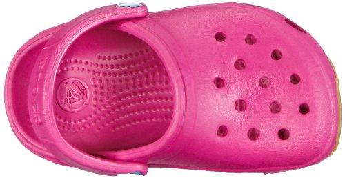 crocs Jungen Retro Clog Kid Pantoletten Pink (Fuchsia/Sea Blue)