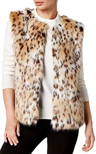 - Inc International Concepts Leopard-Print Faux Fur Vest, M/L