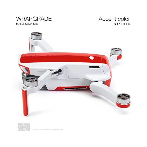 WRAPGRADE Colore di Accento Skin Compatibile con DJI Mavic Mini (Super Red) 5 spesavip