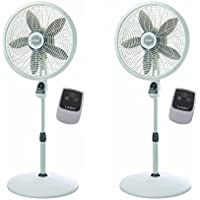Lasko 18 Inch Elegance Performance Oscillating Pedestal Fan w/ Remote (2 Pack)