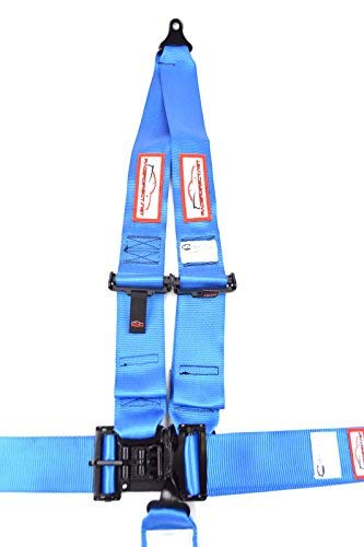 Racerdirect.net Racing Harness 3'' V Roll Bar Mount 5 Point Latch & Link Safety Race Harness Blue by Racerdirect (Image #3)