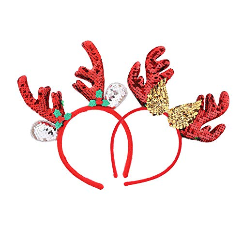 Christmas Hair Accessories Elves Party Christmas Reindeer Antler Costume Headbands For Christmas Holiday Party