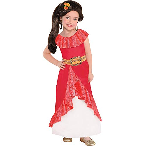 Costumes USA Elena of Avalor Costume for Girls, Size Medium, Features a Ruffled Hemline and a Sparkle Mesh Underskirt -
