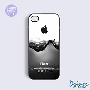 iPhone 5 5s Case - Black White Water Splash iPhone Cover