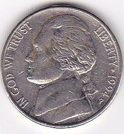 Jefferson Mint - 1994-P Jefferson Nickel Coin by US Mint